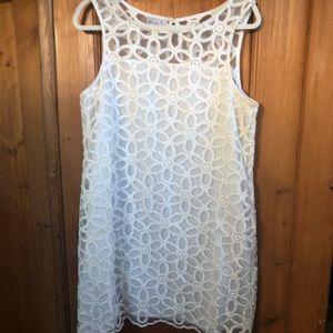 Mud Pie white daisy lace dress. Sz.L